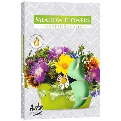 Bispol scented tealights candles 6 pcs - Meadow Flowers