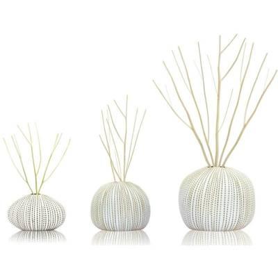 BsaB Luxury Ceramic Diffuser Set zestaw trzech luksusowych ceramicznych dyfuzorów zapachowych 240 ml - Lemongrass