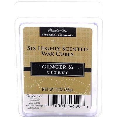 Candle-lite Essential Elements Wax Melts Essential Oil 2 oz 56 g - Ginger & Citrus