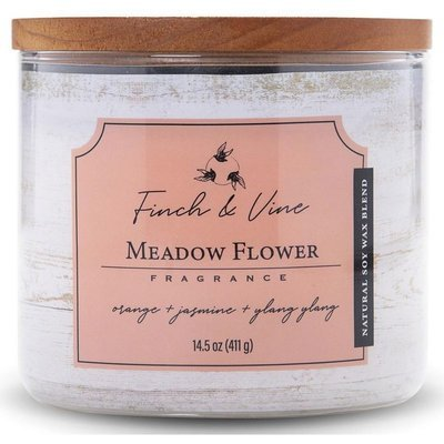 Colonial Candle Finch & Vine large soy scented candle 3 wicks 14.5 oz 411 g - Meadow Flower