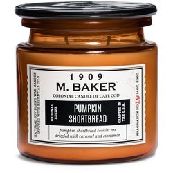 Colonial Candle M. Baker large soy scented candle apothecary jar 14 oz 396 g - Pumpkin Shortbread