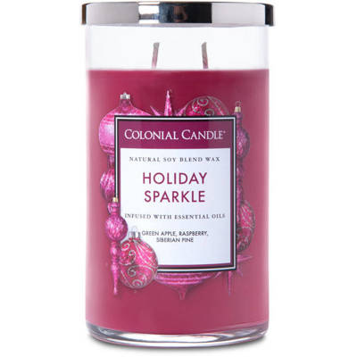 Colonial Candle large scented jar candle 18 oz 510 g - Holiday Sparkle