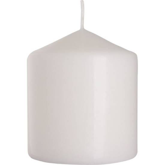 Bispol pillar unscented solid candle 90/78 mm - White