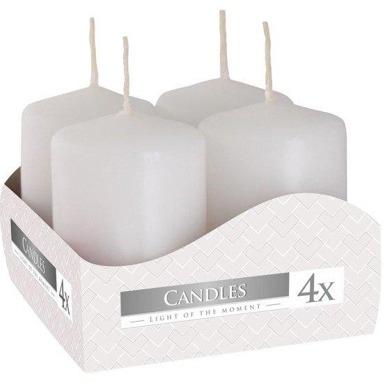 Bispol votive unscented solid candle set 4 pcs 60/38 mm - White