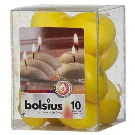 Bolsius Floating Candles świece pływające na wodę 30/45 mm 10 szt - Żółte