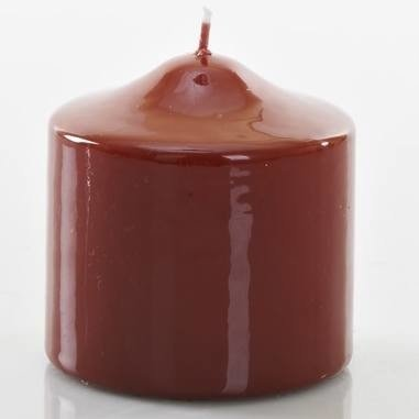 Meloria Candela di Lusso Candelotto Classic luksusowa bordowa świeca dekoracyjna pieńkowa słupek 80/80 mm - Bordeaux