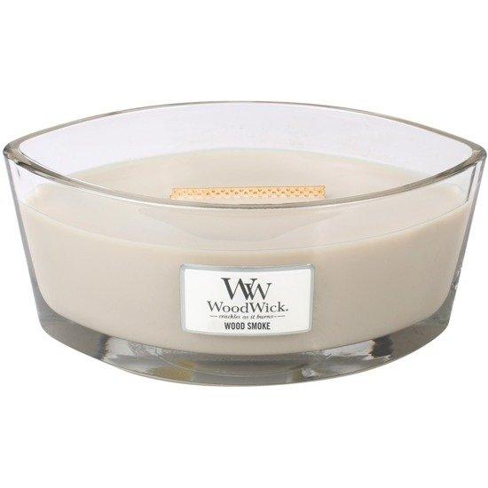 WoodWick Core Heartwick Candle świeca zapachowa sojowa w szkle łódka ~ 60 h - Wood Smoke