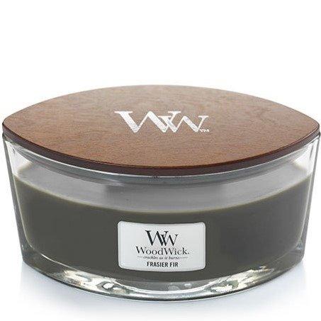 WoodWick Core Heartwick Candle świeca zapachowa w szkle z drewnianym knotem łódka ~ 60 h - Frasier Fir