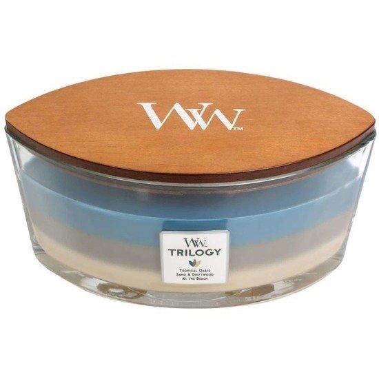 WoodWick Core Heartwick Trilogy Candle świeca zapachowa sojowa w szkle łódka trójzapachowa ~ 60 h - Nautical Escape