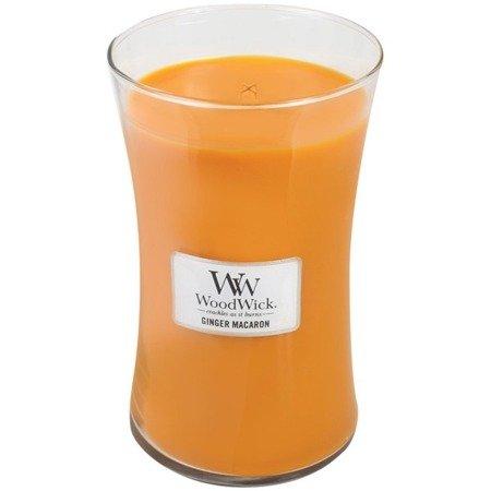 WoodWick Core Large Candle świeca zapachowa sojowa w szkle ~ 175 h - Ginger Macaron
