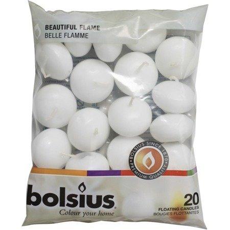 Bolsius Floating Candles świece pływające na wodę 30/45 mm 20 szt - Białe